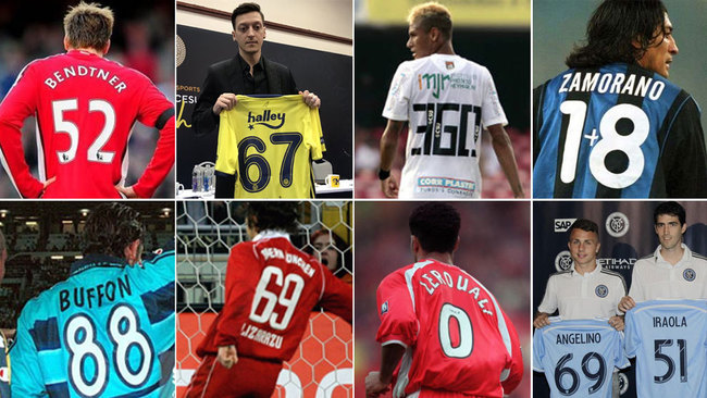 Ozil's No.67 and other great players' random shirt numbers