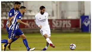 Isco in the match against Alcoyano