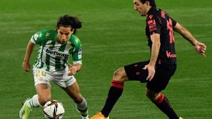 Diego Lainez, en el duelo de Copa ante la Real Sociedad.