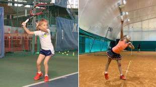 La tenista viral de la que todo el mundo habla: 7 años y juega así...