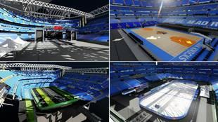 La brutal recreación 3D del funcionamiento del césped retráctil del Santiago Bernabéu