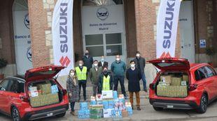 Suzuki entrega en la Fundación Banco de Alimentos las tres toneladas...