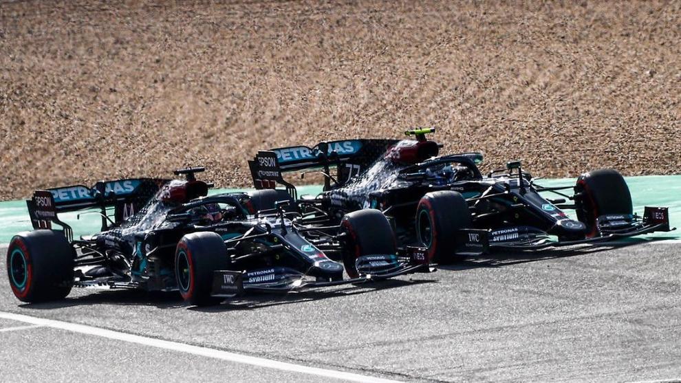 Hamilton y Bottas, igualados.