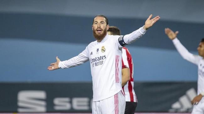 Sergio Ramos, en el partido ante el Athletic de la Supercopa.