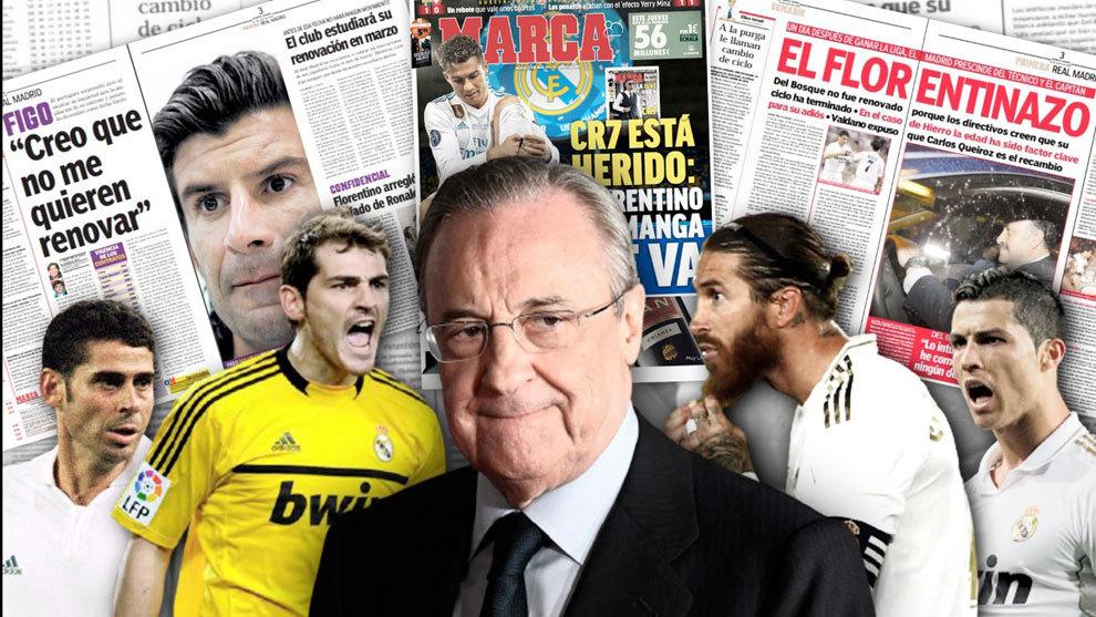 Florentino Perez puts Real Madrid before legends: Figo, Casillas, Cristiano Ronaldo... Ramos?