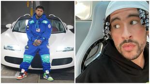 Anuel AA y Bad Bunny, las estrellas del trap latino, poseen un Bugatti...
