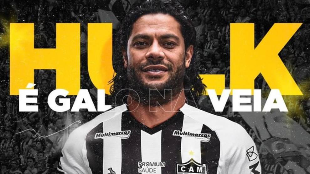 Givanildo Vieira de Sousa 'Hulk', con la camiseta del Atlético...