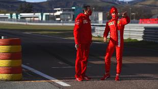 El primer aviso de Sainz con su Ferrari