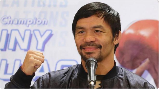 Manny Pacquiao, en un rueda de prensa.