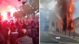 Violenta protesta de los ultras del Marsella: ¡prenden fuego a la ciudad deportiva!