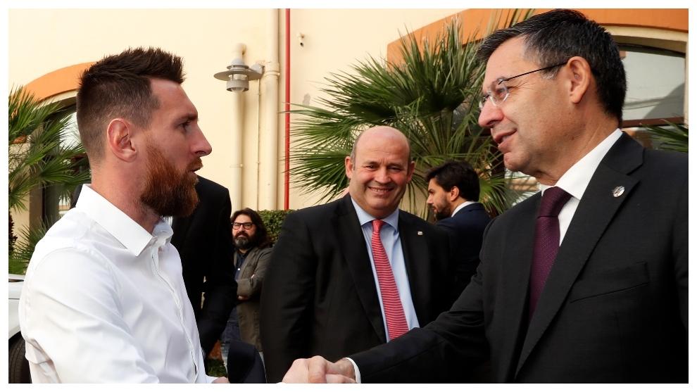 Messi, Grau and Bartomeu