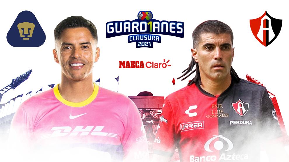 Pumas vs Atlas en vivo jornada4 Guardianes 2020