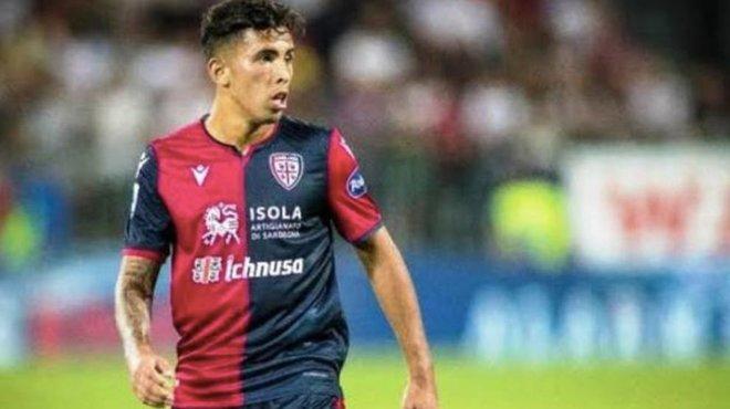 Christian Oliva con el Cagliari.