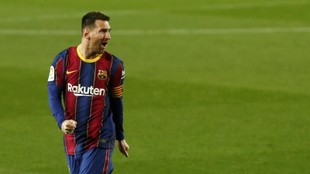 Messi, tras marcar contra el Athletic.