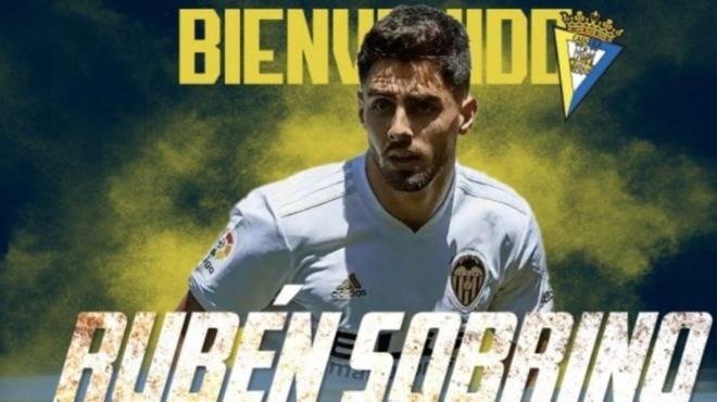 Fichajes Cadiz Ruben Sobrino