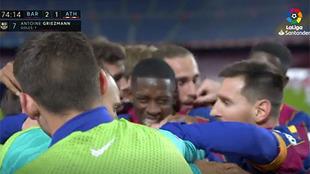 Lo que no escuchaste en la celebración de Griezmann: métete en el abrazo del Barça