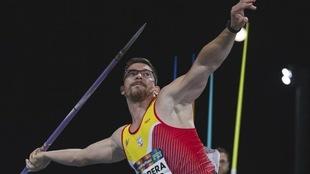 Héctor Cabrera, en los Mundiales de atletismo de Dubai de 2019.