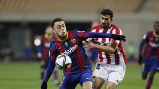 Dest, durante la final de la Supercopa contra el Athletic.