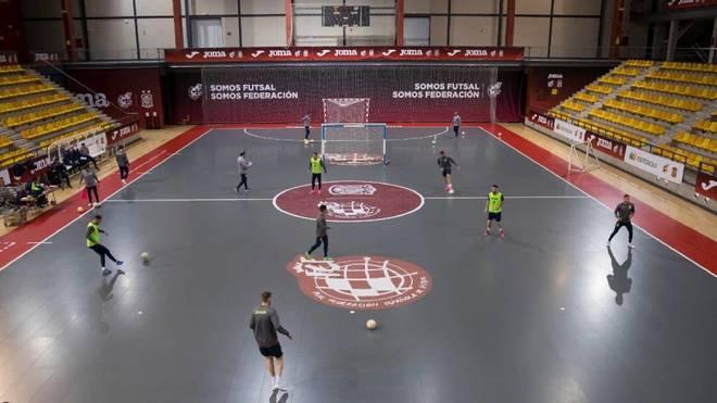 Panorámica del pabellón de la Ciudad del Fútbol donde se jugará el...