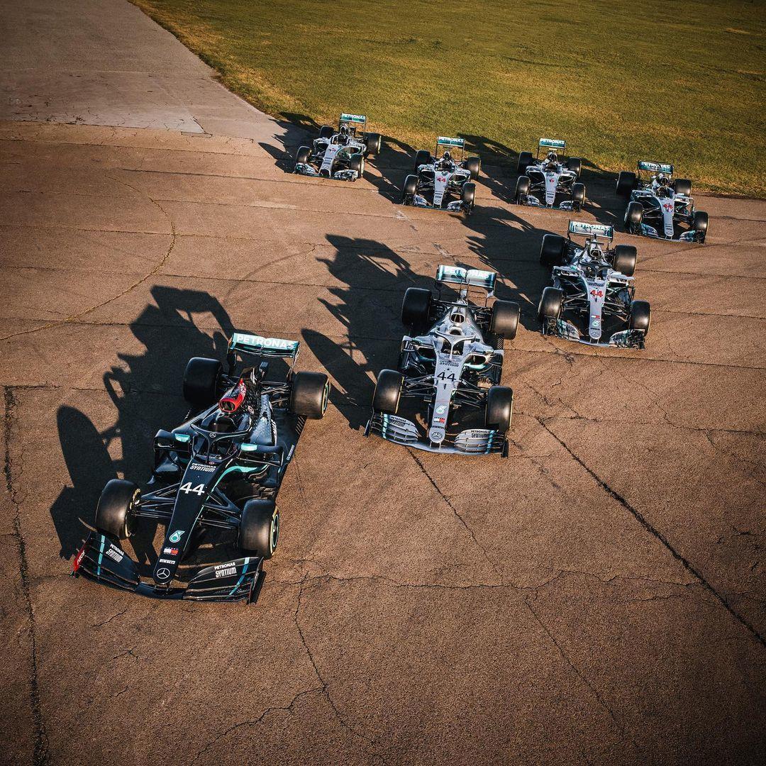 Los 7 coches campeones de Mercedes en la era híbrida.