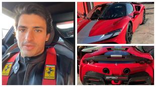 Carlos Sainz 'redebuta', esta vez con los Ferrari de calle.