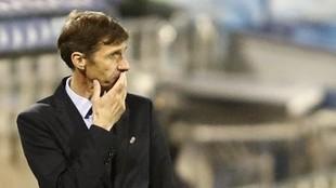 Ziganda, en un partido de Oviedo.