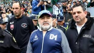 Maradona, en su etapa en Gimnasia y Esgrima.