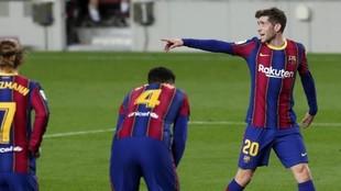 Sergi Roberto, durante el encuentro contra el Athletic.