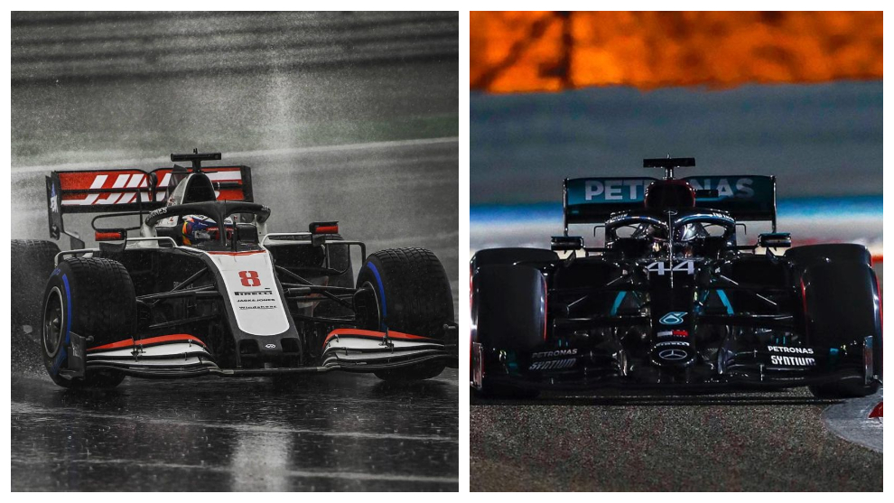 Grosjean y Hamilton.