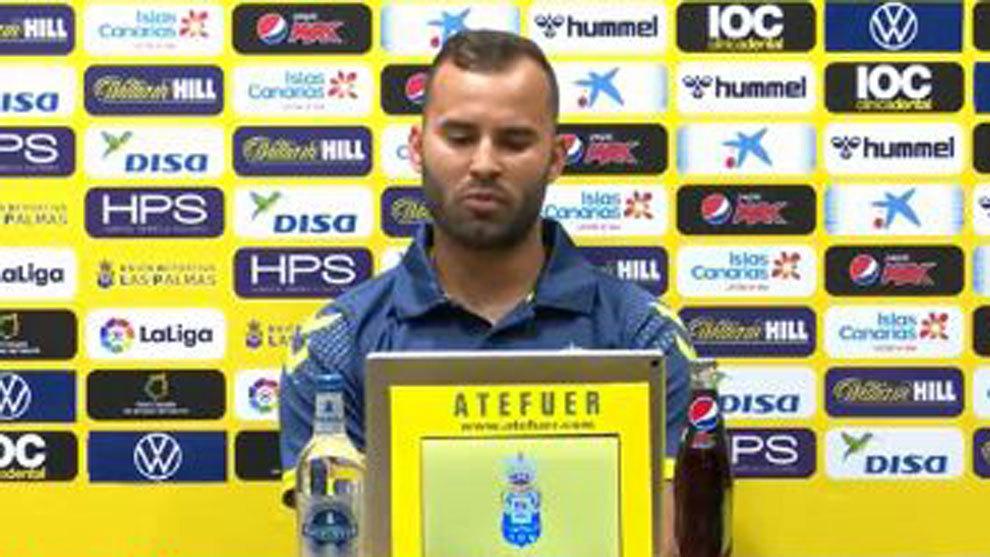 Jesé Rodríguez, en su presentación ante los medios de comunicación.