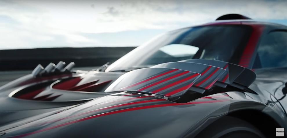La espectacular aerodinámica activa del AMG Project One.