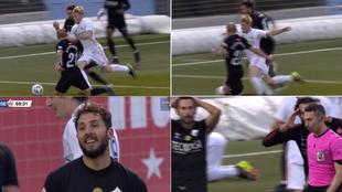 El polémico penalti del Castilla: las caras de los jugadores del Sanse lo dicen todo