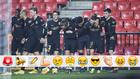 Los jugadores del Barça festejan el 2-2