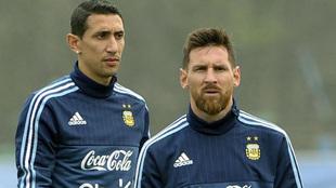 """Di María: """"Ojalá pueda jugar con Messi en el PSG, hay muchas posibilidades"""""""