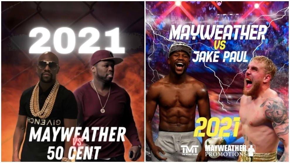 Mayweather to fight 50 Cent and Jake Paul, as well as Logan
