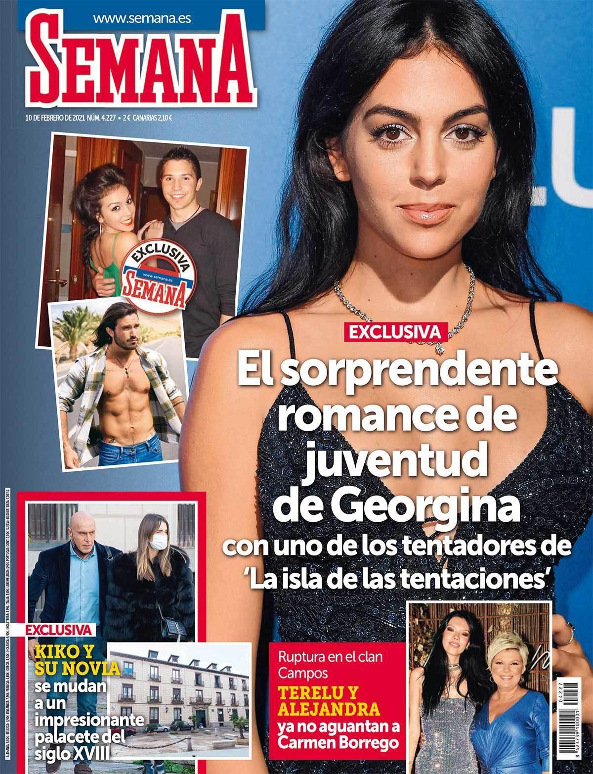 Portada de la revista Semana con Georgina Rodríguez y Javi de La isla de las tentaciones