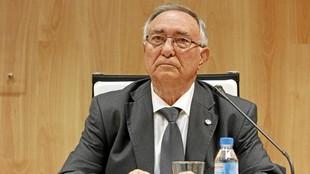 Vicente Temprado, en una reunión en su etapa en la presidencia de la...