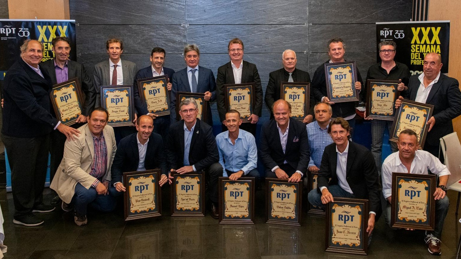 Premiados por el Registro Profesional de Tenis en 2019