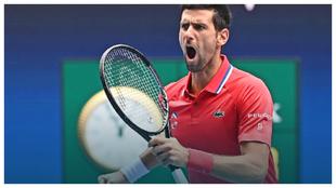 Djokovic, durante un partido