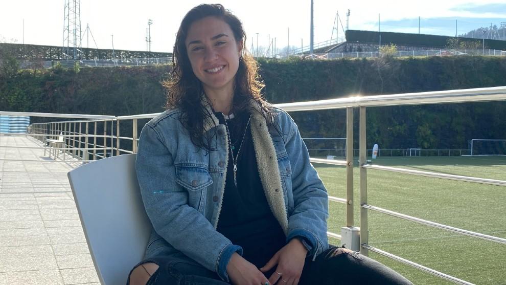 Nahikari García posa en las instalaciones de Zubieta.
