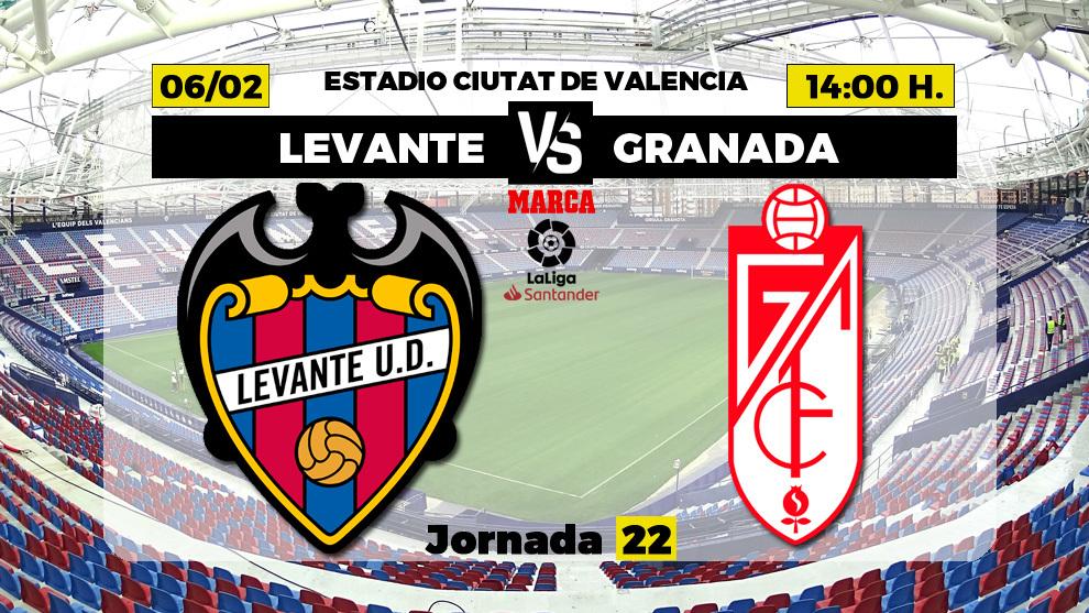 Levante - Granada, en directo