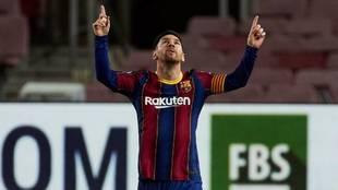 Messi celebra un gol contra el Athletic