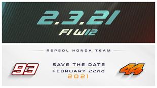 Las fechas para la presentación de Mercedes y Repsol Honda.