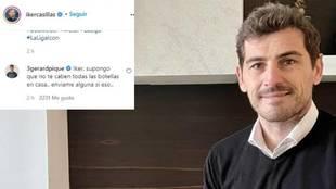 Casillas trolea a Messi... y Piqué entra al trapo
