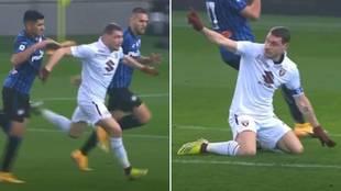 Preciosa lección de 'fair play' de Belotti recompensada por el karma: hace esto perdiendo 3-0