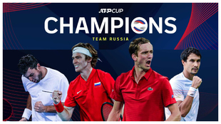 Rusia se ha convertido en el segundo campeón de la ATP Cup