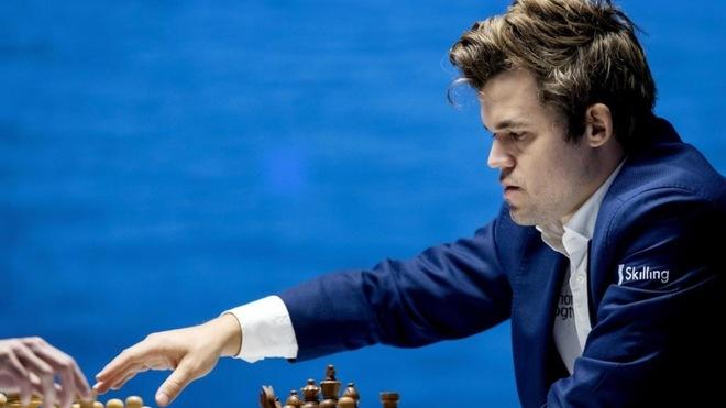 Magnus Carlsen, durante un torneo de ajedrez.