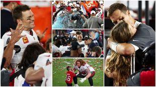 El festejo de los Buccaneers tras ganar el Super Bowl LV.