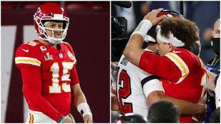 Patrick Mahomes y su difícil duelo ante Tom Brady.