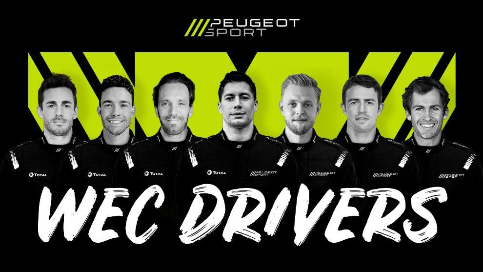 Peugeot desvela sus pilotos para Le Mans.